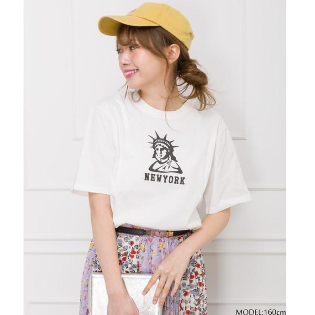 SpRay 女神プリントTシャツ