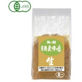 国産有機・麦味噌(1kg)【海の精】