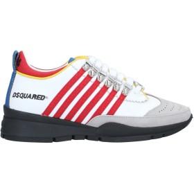 《送料無料》DSQUARED2 レディース スニーカー&テニスシューズ(ローカット) ホワイト 35.5 革