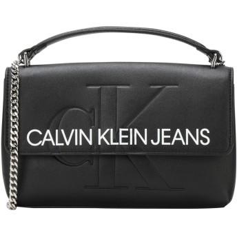 《期間限定セール開催中!》CALVIN KLEIN JEANS レディース メッセンジャーバッグ ブラック ポリウレタン 100% SCULPTED MONOGRAM E/