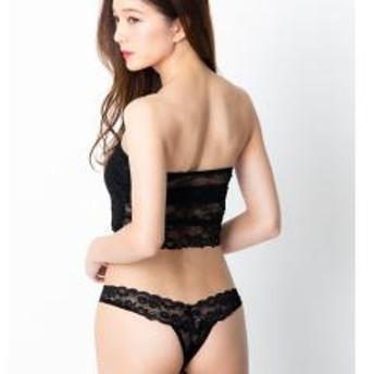 フランデランジェリー(fran de lingerie)lacybasic レーシーベーシック コーディネート総レースタンガ 【5%OFFクーポン利用可能】【コード:CP34TSW】