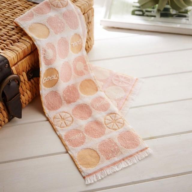 タオル 冷感糸でひんやり!さわるとつめたいクールタオル<日本製> カラー 「フルーツ」
