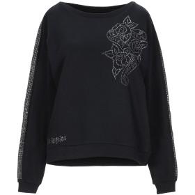 《期間限定セール開催中!》!MERFECT レディース スウェットシャツ ブラック S コットン 80% / ポリエステル 20%