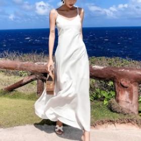 ワンピース リゾート ワンピース ハワイ ロングワンピース 白 白ロングワンピース 沖縄リゾートワンピース 可愛い 夏ワンピース
