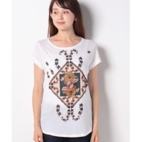 (SISLEY/シスレー)プリント半袖Tシャツ・カットソー/レディース ホワイト系その他