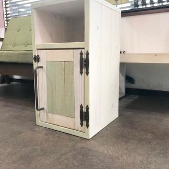 ゴミ箱 ピスタチオグリーン×ホワイト 西海岸スタイルダストボックス