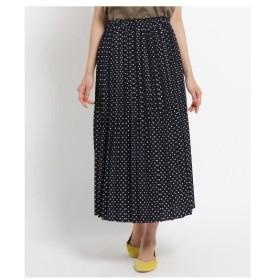 Dessin(Ladies)(デッサン(レディース))【洗える】【ウエストゴム】ジョーゼットプリーツスカート
