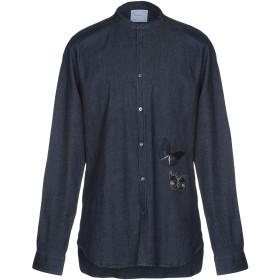 《期間限定 セール開催中》SAPORE メンズ デニムシャツ ブルー 43 コットン 98% / ポリウレタン 2%