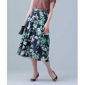 【nano・universe:スカート】カットジャカードプリントスカート