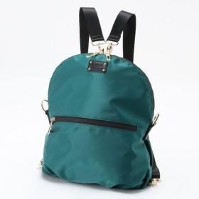 バッグ カバン 鞄 レディース リュック 使い方が選べる!2WAYナイロンお役立ちバッグ カラー 「ブルー×グリーン」
