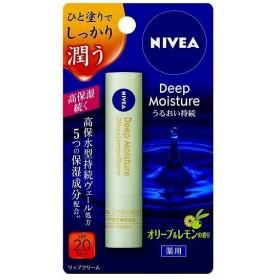 花王 ニベア ディープモイスチャーリップ オリーブ&レモンの香り 2.2g|4901301271594