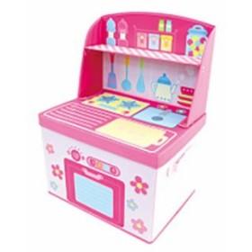 遊べる・たためる・収納できる!ままごと収納ボックス キッチン 1個入