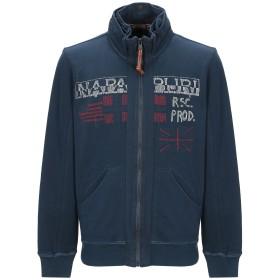 《9/20まで! 限定セール開催中》NAPAPIJRI メンズ スウェットシャツ ダークブルー L コットン 100%