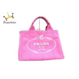 プラダ PRADA トートバッグ CANAPA BN2439 ピンク キャンバス  値下げ 20190927