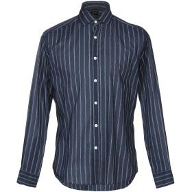 《期間限定セール開催中!》BAGUTTA メンズ シャツ ダークブルー XL コットン 100%