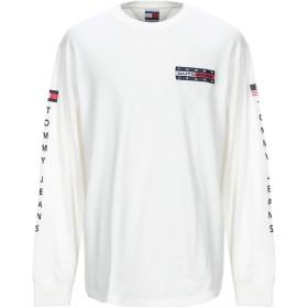 《期間限定 セール開催中》TOMMY JEANS メンズ T シャツ ホワイト L コットン 100%