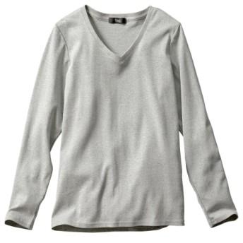 綿100%VネックTシャツ