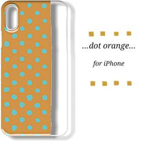 iPhoneクリアスマホケース_dot orange