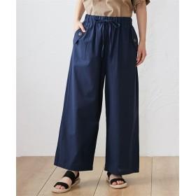 夏にサラッと綿で快適 イージーワイドパンツ (レディースパンツ),pants