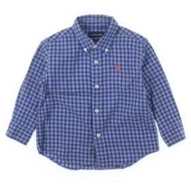 RALPH LAUREN  / ラルフローレン キッズ シャツ 色:青x水色x白等(チェック) サイズ:90