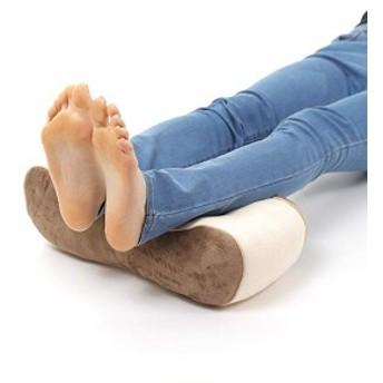 足枕 フットレスト 足置き フットピロー むくみ防止 腰痛対策 妊娠 産後 膝下枕 足休め 足用クッション ギフト (ブラウン)