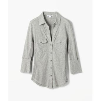 トゥモローランド サイドパネルシャツ WUA3042 レディース 14グレー系 2(L) 【TOMORROWLAND】