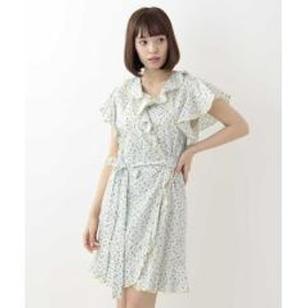 フラワープリントドレス IMPORTED【お取り寄せ商品】