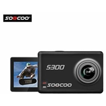 16GB TFカード+ SOOCOO @ S300 4K HD 12MP 2.35インチTFTタッチWIFIスクリーンスポーツアクションビデオカメラDV 170度広角レンズポータ