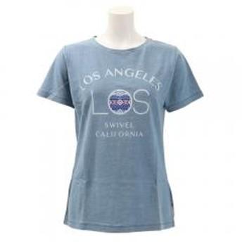 スウィベル(Swivel) LA INDIGO WASHED Tシャツ 870SW9EG6422 IBLU(Lady's)