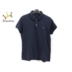 ラルフローレン 半袖ポロシャツ サイズ7f L レディース 美品 ダークネイビー×レッド 新着 20190705