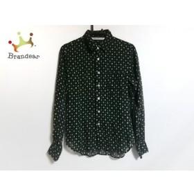 グランマママドーター 長袖シャツ サイズ0 XS メンズ 美品 黒×アイボリー×グリーン  値下げ 20190918
