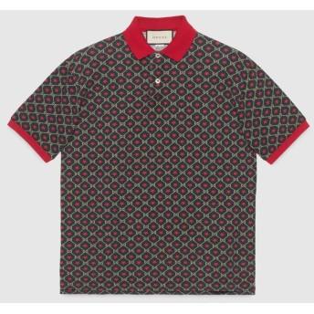 オンライン限定 GGスター プリント オーバーサイズ ポロシャツ