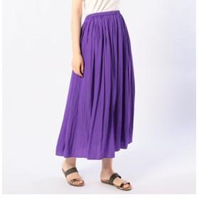 【NOLLEY'S:スカート】割繊ロング丈ギャザースカート