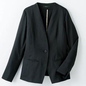 40%OFF【レディース】 ノーカラージャケット - セシール ■カラー:ブラック ■サイズ:9号,7号,11号,13号