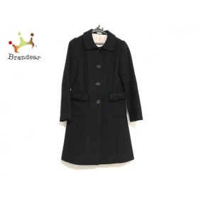シンシアローリー CYNTHIA ROWLEY コート サイズ2 S レディース 美品 黒 リボン/冬物 新着 20190705