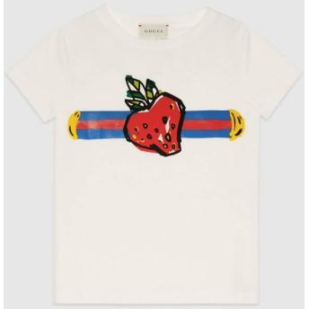 〔チルドレンズ〕シルヴィ ウェブ プリント Tシャツ