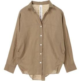 【6,000円(税込)以上のお買物で全国送料無料。】綿麻ボイル抜け襟シャツ