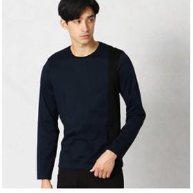 【COMME CA MEN:トップス】バイカラー クルーネックTシャツ
