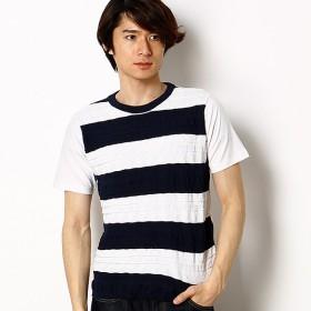 [マルイ]【セール】切り替えニットボーダーTシャツ/マインドブロウ(MIND BLOW)