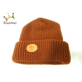 イルビゾンテ IL BISONTE ニット帽 新品同様 ブラウン アクリル×ウール 新着 20190705