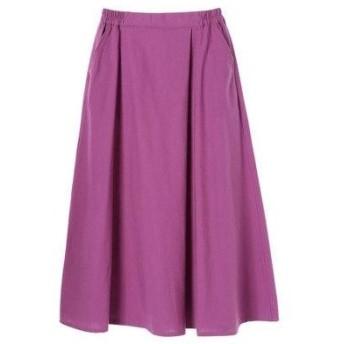 グリーンパークス Green Parks フロントアシメタックフレアスカート (Purple)