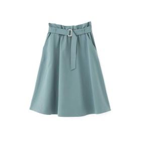 【公式/プロポーションボディドレッシング】ツイルギャザースカート/女性/スカート/グリーン/サイズ:1/(表生地)ポリエステル 85% コットン 15%(裏生地)ポリエステル 100%