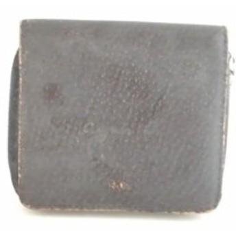 アニエスベー agnes b 2つ折り財布 レディース 黒 ラウンドファスナー レザー【中古】20190703