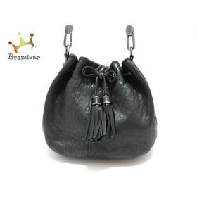 アニヤハインドマーチ Anya Hindmarch ショルダーバッグ - 黒 巾着型/タッセル レザー   スペシャル特価 20190907