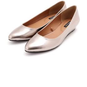 【公式/NATURAL BEAUTY BASIC】ポインテッドウェッジパンプス/女性/靴・パンプス/ガンメタ/サイズ:22.5/(甲皮の使用材)合成皮革(底材の種類)合成底