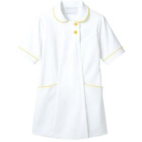住商モンブラン ナースジャケット(半袖) 医療白衣 レディス 白/イエロー M 73-1840(直送品)