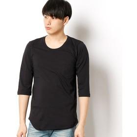 [マルイ]【セール】【レイヤードスタイルに必須】ロング丈7分袖ポケットTシャツ[吸水速乾/消臭抗菌/マイナスイオン加工]/マインドブロウ(MIND BLOW)