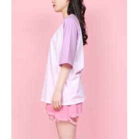 Tシャツ - WEGO【WOMEN】 パステルザウルスラグランT WCK19SM-013