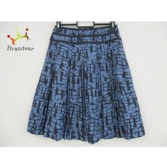 ジユウク 自由区/jiyuku スカート サイズ2 M レディース ネイビー×ブルー シルク/プリーツ 新着 20190705