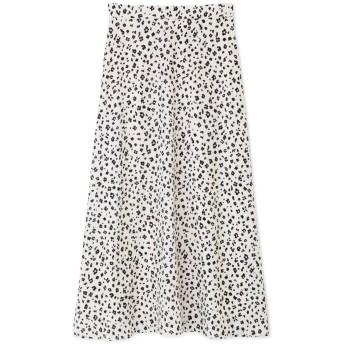 NATURAL BEAUTY BASIC アニマルフラワープリントスカート